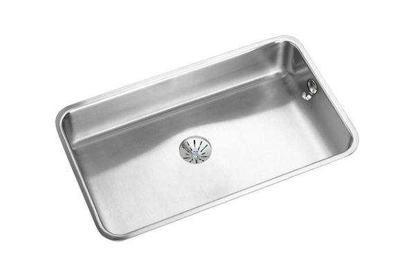 "Elkay Lustertone Stainless Steel 30-1/2"" x 18-1/2"" x 7-1/2"", Single Bowl Undermount Sink with Perfect Drain"