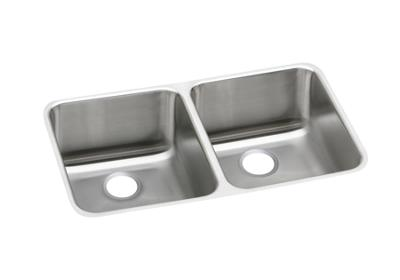 "Image for Elkay Gourmet Stainless Steel 30-3/4"" x 18-1/2"" x 10"", Equal Double Bowl Undermount Sink from ELKAY"