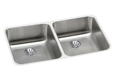 "Image for Elkay Lustertone Stainless Steel 30-3/4"" x 18-1/2"" x 5-3/8"", Equal Double Bowl Undermount ADA Sink w/ Perfect Drain from ELKAY"