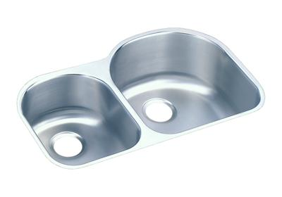 "Image for Elkay Lustertone Stainless Steel 31-1/4"" x 20"" x 10"", Offset 40/60 Double Bowl Undermount Sink from ELKAY"