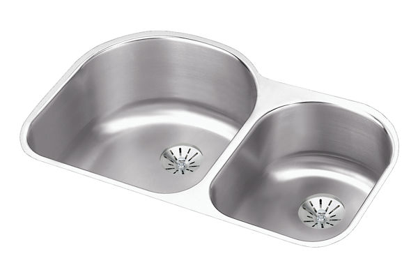 Harmony; (Lustertone;) Stainless Steel Double Bowl Undermount Sink