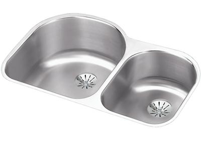 "Image for Elkay Lustertone Stainless Steel 31-1/4"" x 20"" x 10"", Offset 60/40 Double Bowl Undermount Sink with Perfect Drain from ELKAY"