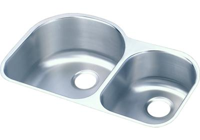 "Image for Elkay Lustertone Stainless Steel 31-1/4"" x 20"" x 10"", Offset 60/40 Double Bowl Undermount Sink from ELKAY"