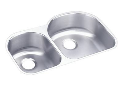 "Image for Elkay Lustertone Stainless Steel 31-1/4"" x 20"" x 7-1/2"", Offset 40/60 Double Bowl Undermount Sink from ELKAY"