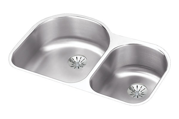 Harmony™ (Lustertone®) Stainless Steel Double Bowl Perfect Drain Sink