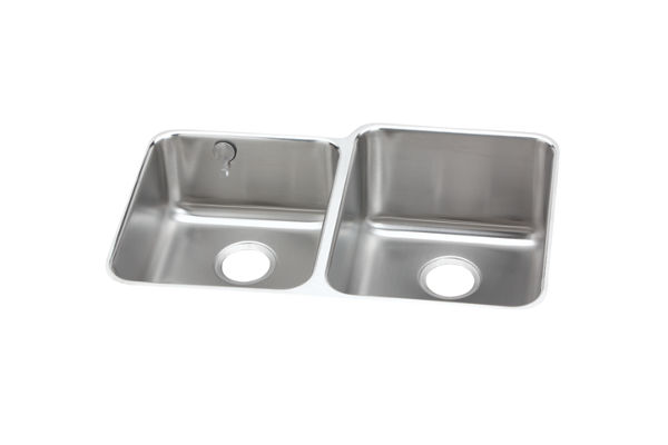 Gourmet (Lustertone®) Stainless Steel Double Bowl Undermount Sink Kit