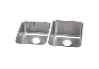 "Image for Elkay Gourmet Stainless Steel 31-1/4"" x 20-1/2"" x 9-7/8"", 40/60 Double Bowl Undermount Sink from ELKAY"