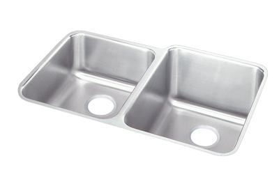 "Image for Elkay Lustertone Classic Stainless Steel, 31-1/4"" x 20-1/2"" x 9-7/8"", Offset Double Bowl Undermount Sink from ELKAY"