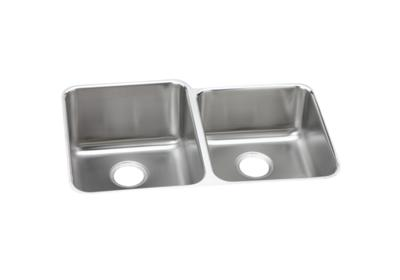 "Image for Elkay Lustertone Stainless Steel 31-1/4"" x 20-1/2"" x 9-7/8"", Offset Double Bowl Undermount Sink from ELKAY"