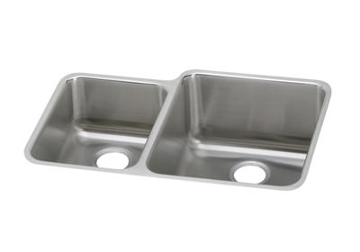 "Image for Elkay Lustertone Classic Stainless Steel 30-3/4"" x 21"" x 9-7/8"", Offset 40/60 Double Bowl Undermount Sink from ELKAY"