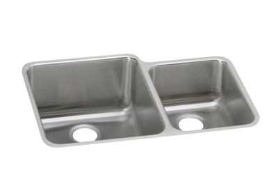 "Image for Elkay Lustertone Stainless Steel 30-3/4"" x 21"" x 9-7/8"", Offset 60/40 Double Bowl Undermount Sink from ELKAY"