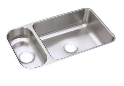 "Image for Elkay Gourmet Stainless Steel 32-1/4"" x 18-1/4"" x 7-3/4"", 30/70 Double Bowl Undermount Sink from ELKAY"