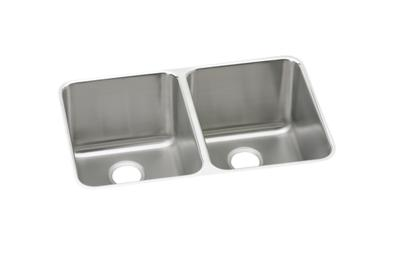 "Image for Elkay Gourmet Stainless Steel 31-1/4"" x 20"" x 9-7/8"", Equal Double Bowl Undermount Sink from ELKAY"