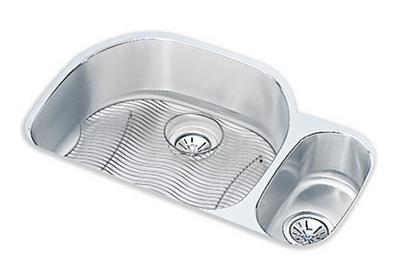 "Image for Elkay Lustertone Classic Stainless Steel 31-1/2"" x 21-1/8"" x 10"", Offset 70/30 Double Bowl Undermount Sink Kit from ELKAY"