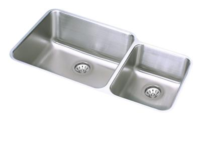 "Image for Elkay Gourmet Stainless Steel 35-1/4"" x 20-1/2"" x 9-7/8"", Double Bowl Undermount Sink Kit from ELKAY"
