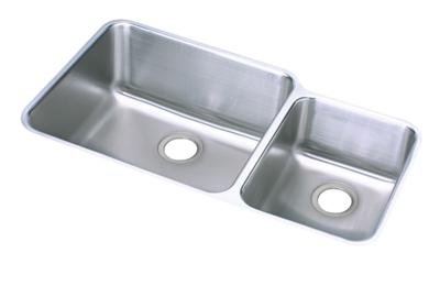 "Image for Elkay Lustertone Stainless Steel 35-1/4"" x 20-1/2"" x 9-7/8"", Offset 60/40 Double Bowl Undermount Sink from ELKAY"