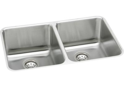 "Image for Elkay Gourmet Stainless Steel 35-3/4"" x 18-1/2"" x 10"", Double Bowl Undermount Sink Kit from ELKAY"