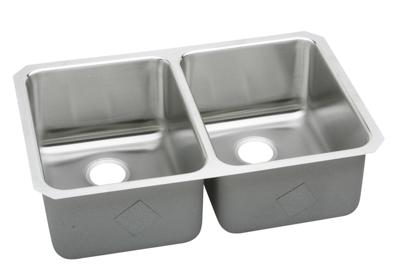 "Image for Elkay Lustertone Stainless Steel 35-3/4"" x 18-1/2"" x 10"", Equal Double Bowl Undermount Sink from ELKAY"