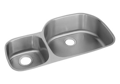 "Image for Elkay Lustertone Stainless Steel 36-1/4"" x 21-1/8"" x 10"", Offset 40/60 Double Bowl Undermount Sink from ELKAY"