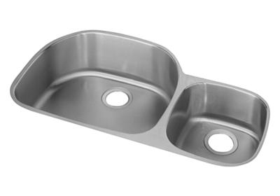 "Image for Elkay Lustertone Stainless Steel 36-1/4"" x 21-1/8"" x 7-1/2"", Offset 60/40 Double Bowl Undermount Sink from ELKAY"