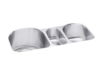 "Image for Elkay Lustertone Stainless Steel 39-1/2"" x 20"" x 10"", Triple Bowl Undermount Sink Kit from ELKAY"
