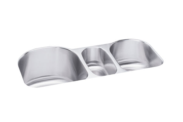 "Elkay Lustertone Classic Stainless Steel 39-1/2"" x 20"" x 10"", Triple Bowl Undermount Sink"