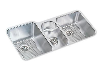 "Image for Elkay Lustertone Stainless Steel 40"" x 20-1/2"" x 9-7/8"", Triple Bowl Undermount Sink Kit from ELKAY"