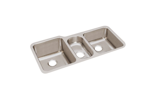 "Elkay Lustertone Classic Stainless Steel 40"" x 20-1/2"" x 9-7/8"", Triple Bowl Undermount Sink"