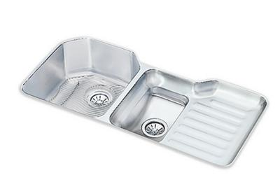 "Image for Elkay Lustertone Stainless Steel 41-1/2"" x 20-1/2"" x 9-1/2"", 40/60 Double Bowl Undermount Sink Kit from ELKAY"