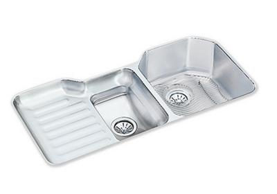 "Image for Elkay Lustertone Stainless Steel 41-1/2"" x 20-1/2"" x 9-1/2"", 60/40 Double Bowl Undermount Sink Kit from ELKAY"