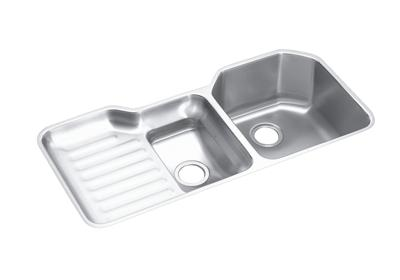 "Image for Elkay Lustertone Stainless Steel 41-1/2"" x 20-1/2"" x 9-1/2"", 60/40 Double Bowl Undermount Sink from ELKAY"