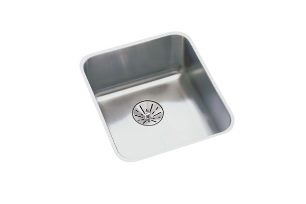 "Elkay Lustertone Stainless Steel 16-1/2"" x 16-1/2"" x 5-3/8"", Single Bowl Undermount ADA Sink with Perfect Drain"