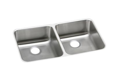 "Image for Elkay Lustertone Stainless Steel 31-3/4"" x 16-1/2"" x 4-3/8"", Equal Double Bowl Undermount Sink from ELKAY"