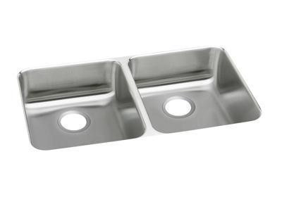 "Image for Elkay Lustertone Stainless Steel 35-3/4"" x 18-1/2"" x 4-3/8"", Equal Double Bowl Undermount Sink from ELKAY"