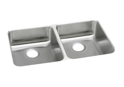 "Image for Elkay Lustertone Stainless Steel 35-3/4"" x 18-1/2"" x 4-7/8"", Equal Double Bowl Undermount ADA Sink from ELKAY"
