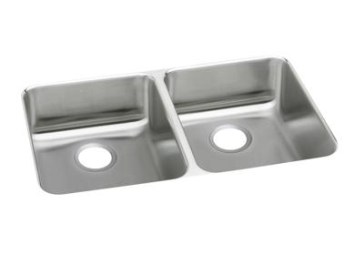 "Image for Elkay Lustertone Stainless Steel 35-3/4"" x 18-1/2"" x 5-3/8"", Equal Double Bowl Undermount Sink from ELKAY"