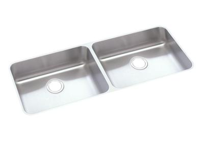 "Image for Elkay Lustertone Stainless Steel 41-3/4"" x 18-1/2"" x 4-3/8"", Equal Double Bowl Undermount ADA Sink from ELKAY"