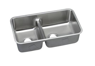 "Image for Elkay Lustertone Stainless Steel 32-1/16"" x 18-1/2"" x 9"", 40/60 Double Bowl Undermount Sink with Aqua Divide from ELKAY"