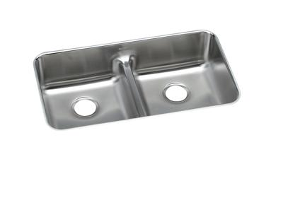 "Image for Elkay Lustertone Stainless Steel 32-1/16"" x 18-1/2"" x 8"", Equal Double Bowl Undermount Sink with Aqua Divide from ELKAY"