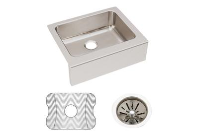 "Image for Elkay Lustertone Classic Stainless Steel 25"" x 20-1/2"" x 7-7/8"", Single Bowl Farmhouse Sink Kit from ELKAY"