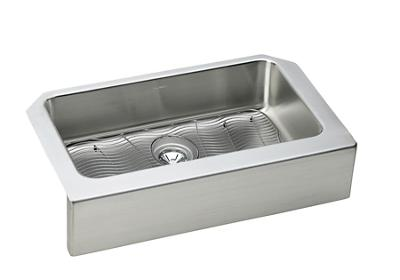 "Image for Elkay Lustertone Stainless Steel 33"" x 20-1/2"" x 8"", Single Bowl Apron Front Sink Kit from ELKAY"