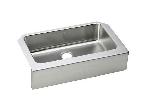 Gourmet (Lustertone®) Stainless Steel Single Bowl Apron Front Undermount Sink