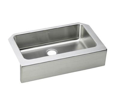 Image for Gourmet (Lustertone) Stainless Steel Single Bowl Apron Front Undermount Sink Kit from elkay-consumer
