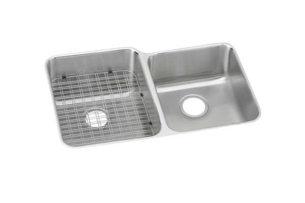 Gourmet (Lustertone) Stainless Steel Double Bowl Undermount Sink