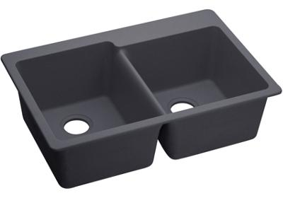 "Image for Elkay Quartz Luxe 33"" x 22"" x 9-1/2"", Offset Double Bowl Top Mount Sink from ELKAY"