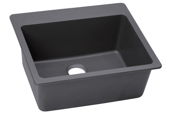 "Elkay Quartz Luxe 25"" x 22"" x 9-1/2"", Single Bowl Top Mount Sink"