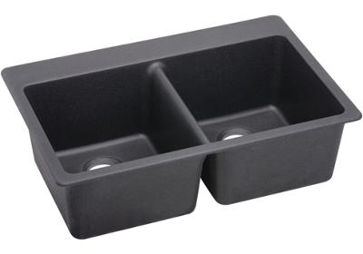 "Image for Elkay Quartz Luxe 33"" x 22"" x 9-1/2"", Equal Double Bowl Top Mount Sink from ELKAY"