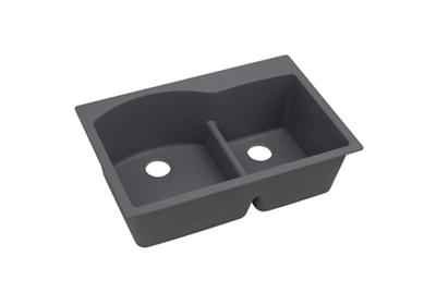 "Image for Elkay Quartz Luxe 33"" x 22"" x 10"", Offset 60/40 Double Bowl Top Mount Sink with Aqua Divide from ELKAY"