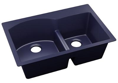 "Image for Elkay Quartz Luxe 33"" x 22"" x 10"", Offset 60/40 Double Bowl Drop-in Sink with Aqua Divide, Jubilee from ELKAY"