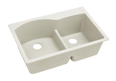 "Image for Elkay Quartz Luxe 33"" x 22"" x 10"", Offset 60/40 Double Bowl Drop-in Sink with Aqua Divide, Ricotta from ELKAY"